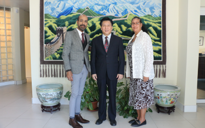 Technical Delegation of Economic and Social Council of Curaçao pays courtesy-visit to Consul-General of China